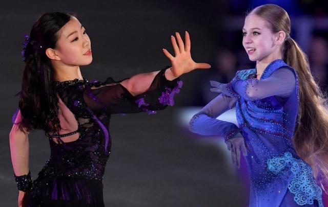 фигуристки Японии и России