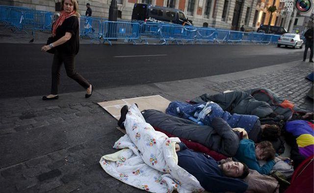 бездомные на улице