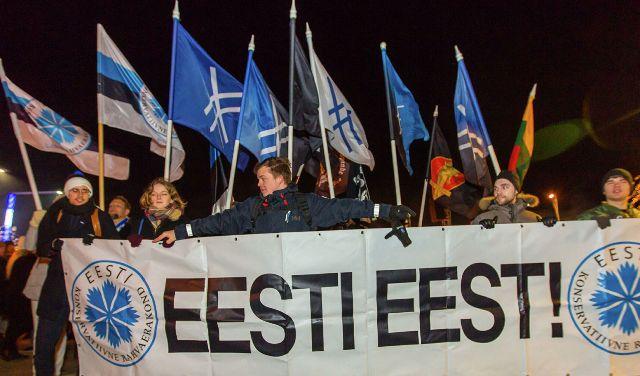 эстонская демонстрация