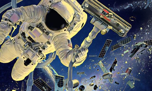куски космических обломков