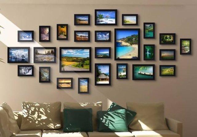 коллекция фотографий в рамке