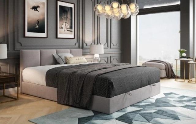 спальня в коричневых цветах