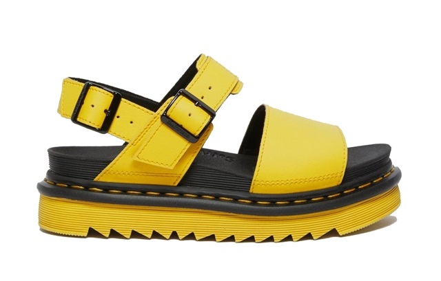 сандалии желтого цвета