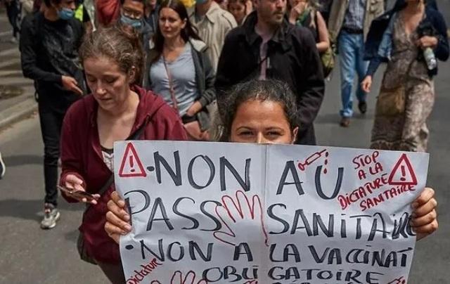 демонстранты в Париже