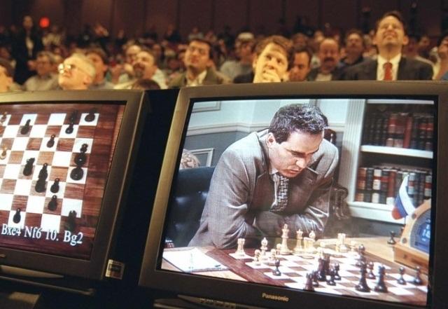 Каспаров играет с компьютером