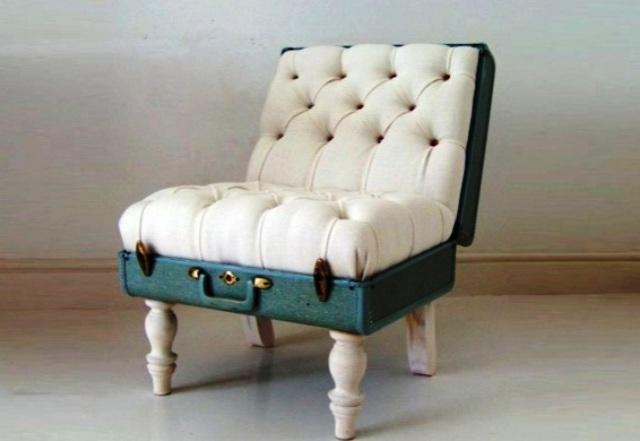 кресло из большого чемодана