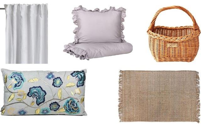 вышитые подушки и белье с оборкой