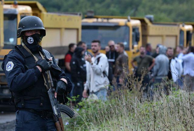 на границе с Косово