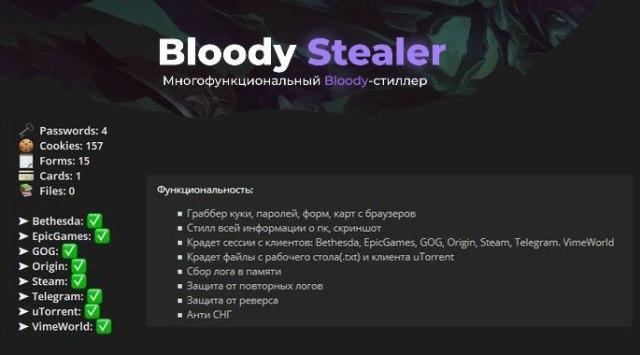 BloodyStealer - опасный вирус